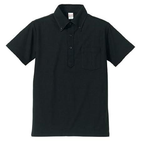 (ユナイテッドアスレ)UnitedAthle 5.3オンス ドライカノコユーティリティーポロシャツ(ボタンダウン)(ポケット付) 505101 2 ブラック L