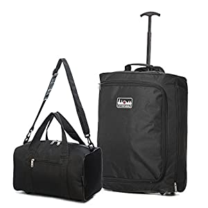 55x40x20cm Ryanair Maximum Cabin Hand Luggage Approved Trolley Bag, 42L