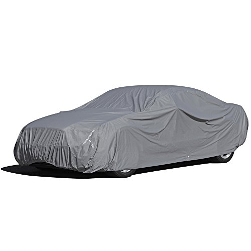 OxGord Executive Storm-Proof Car Cover - 100% Water-Proof 7 Layers -Developed for Any & All Conditions - Ready-Fit / Semi Glove Fit - Fits up to 180 Inches
