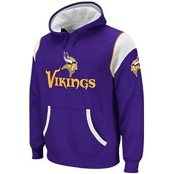 Minnesota Vikings Reebok Qb Jersey Pullover Hooded Sweatshirt Hoody by Reebok