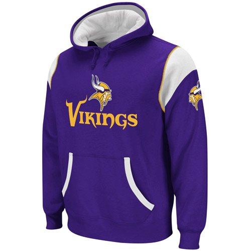 Reebok Minnesota Vikings Purple-White QB Jersey Pullover Hoodie Sweatshirt (X-Large)