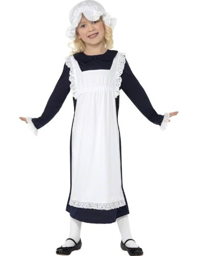 Child Victorian Poor Girl Maid Fancy Dress Costume