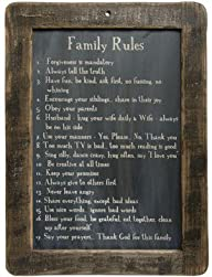 Framed Family Rules Blackboard – Prim…