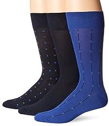 Cole Haan Men\'s Dots Dress 3-Pack Navy/Empire/Navy Socks One Size