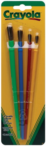 Crayola Kids School Home Activity Art & Craft 4-Piece Brushes