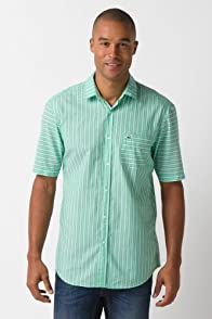 Short Sleeve Stripe Woven Shirt
