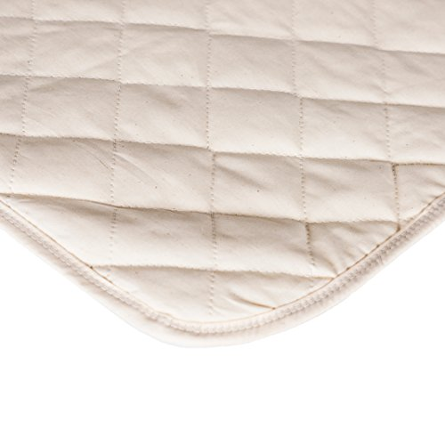 Waterproof Crib Flat Mattress Pad by QuickZip - 100% Natural Cotton - Luxuriously Soft! Pairs Perfectly with QuickZip Crib Zip-On Sheets