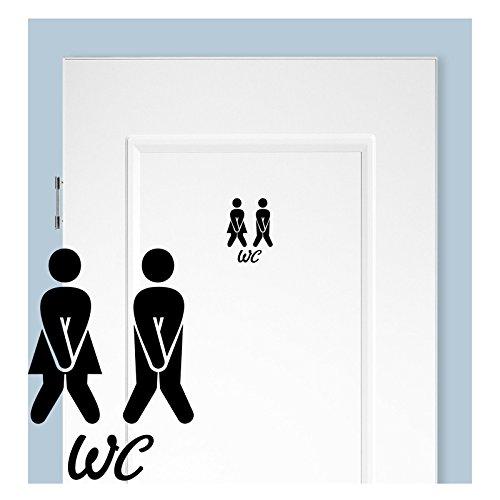 wc aufkleber t raufkleber badezimmer toiletten wandtattoo. Black Bedroom Furniture Sets. Home Design Ideas