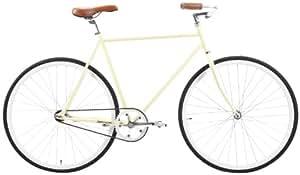 Retrospec Fixie Style Siddhartha Single Speed Urban Coaster Brake Bike, Cream, 45cm/X-Small