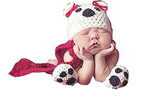 Pinbo Newborn Baby Dog Infant Crochet Handmade Beanie Hat Caps Outfit Photo Props