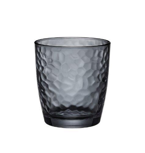 Bormioli Rocco Palatina Double Old Fashioned Glasses, Gray, Set of 6 by Bormioli Rocco