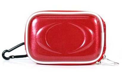 Red Slim Camera Case For Panasonic Lumix Dmc Series + Screen Protector Kit + Cloth, Candy Red front-965335