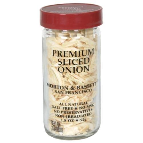 Morton & Bassett Sliced Onion, 1.8-Ounce Jars (Pack Of 3)