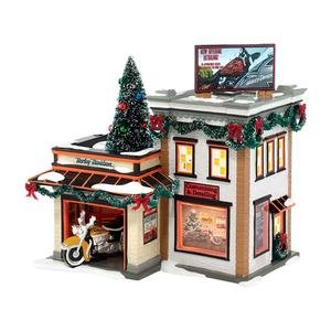 Department 56 Snow Village Harley-Davidson Detail Shop
