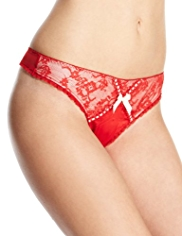 Limited Collection Low Rise Floral Lace Thong