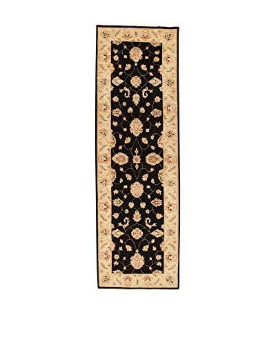 Design Community By Loomier Alfombra Ozbek Turkmen Fine Negro/Beige 250 x 80 cm