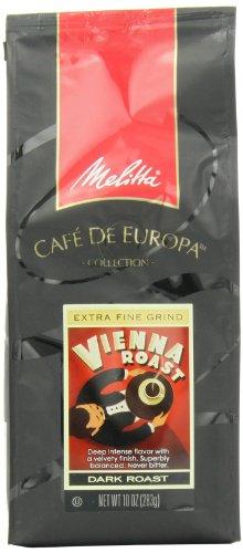 Melitta Café De Europa Gourmet Coffee, Vienna Roast Ground, Dark Roast, 10 Ounce