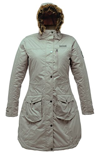 Regatta-Landbreak-wasserdichte-Damenjacke-44-Beige-Barley