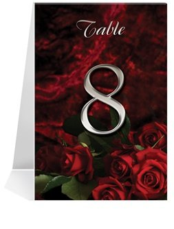 Wedding Table Number Cards - Love Rose So Deep #1 Thru #23 1pcs sample laser cut bride and groom marriage wedding invitations cards greeting cards 3d cards postcard event party supplies