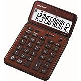 SHARP 電卓50周年記念モデル ナイスサイズモデル ブラウン系 EL-VN82-TX