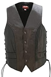 American Made - Motorcycle Leather Vest Two Tone