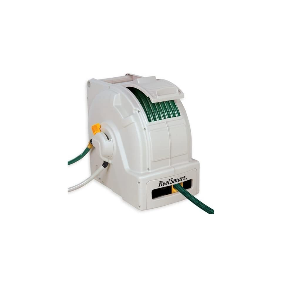 No Crank RS10001 Classic 100 Foot Water Powered Retractable Garden Hose Reel (Discontinued by Manufacturer)  Patio, Lawn & Garden