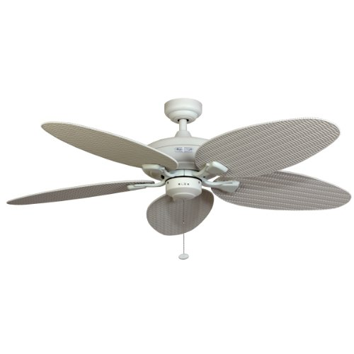Outdoor Tropical Ceiling Fan: Honeywell Duvall 52-Inch Tropical Ceiling Fan, Five Wet