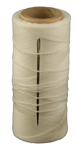 T.W . Evans Cordage 11417 2-Ounce Wax Sail Kit with Needle, White
