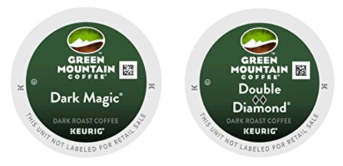 Green Mountain Coffee -- DARK MAGIC & DOUBLE BLACK DIAMOND -- Extra Bold Variety Pack 48 K-Cups for Keurig Brewers (Black Magic Coffee K Cup compare prices)