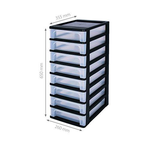 Iris-144002-A-4-Schubladen-ohne-Rollen-8-Schubladenbox-mit-8-Schbe-OCH-2080