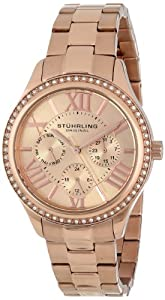 Stuhrling Original Women's 391LS.03 Regent Lady Majestic Quartz Swarovski Rose Tone Watch