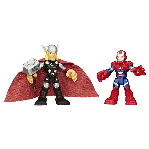 Playskool Heroes Marvel Super Hero Adventures Thor and Iron Patriot Figures - 1