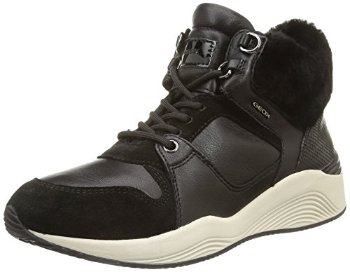GeoxD Omaya E - Pantofole a Stivaletto Donna , Nero (Noir (C9999/Vit Liscio/Agnello)), 38