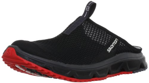 SalomonRx Slide 3.0 - Sandali  uomo , Nero (Black (Black/Bright Red/Dark Cloud)), 42.5