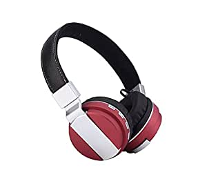Neelam BT008 Wireless Stereo Bluetooth Headphone Foldable Headset with Built-in Mic for Smart Phone and Tablets (red)
