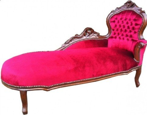 Barock Chaiselongue Bordeaux/Braun