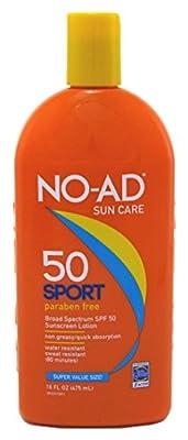 NO-AD Sport Sunscreen Lotion SPF 50 -- 16 fl oz