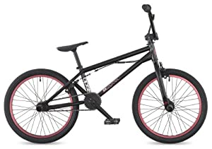 "DK Opsis 2011 BMX Bike, 20"" Black with red rims"