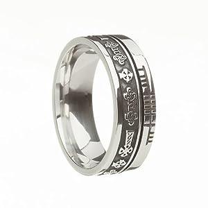 Celtic Symbol Wedding Band - Celtic Cross - .925 Silver - Size 4