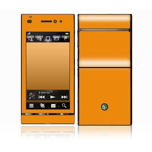 Simply Orange Design Decorative Skin Cover Decal Sticker for Sony Ericsson Satio Cell Phone