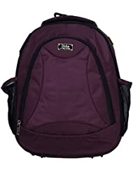 World Class Leather Canvas 17.5 Ltrs Purple School Bag