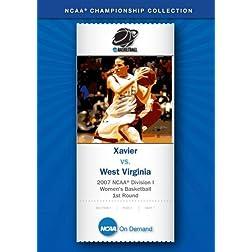 2007 NCAA(r) Division I Women's Basketball 1st Round - Xavier vs. West Virginia