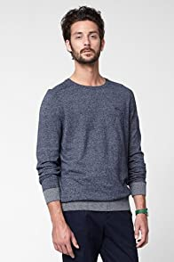 Heather Effeect Jersey Crew Neck Sweater