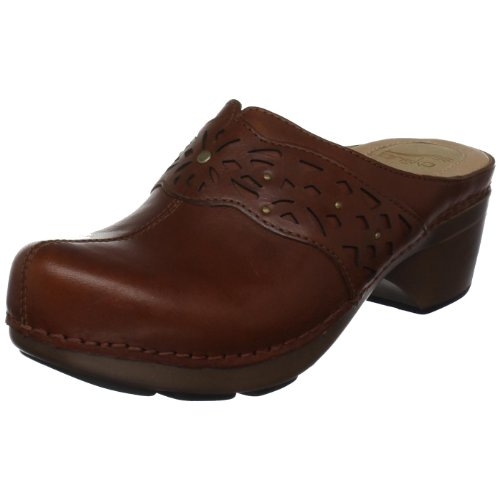 Dansko Women's Shyanne Clog,Saddle,38 EU / 7.5-8 B(M) US