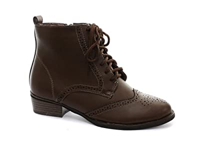 Awesome New Ladies Ankle Boot Brogues Shoes Womens Classic Brogue Boots Shoe