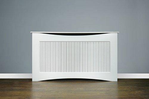 new large white wooden radiator cover 160 cm modern home. Black Bedroom Furniture Sets. Home Design Ideas