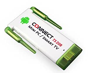 CONNECT TS208 Mini PC / Smart Android TV (Dual Core 1.6Ghz, 1GB RAM, 8GB Storage, Android 4.2, Bluetooth, HDMI, Wifi (Blanc)