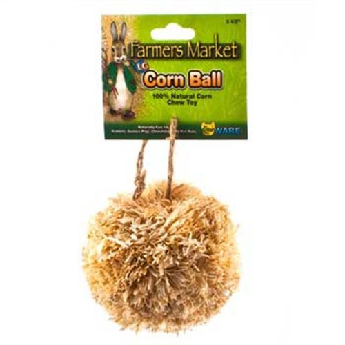 Ware Natural Corn Leaf Small Pet Corn Ball Toy, Large