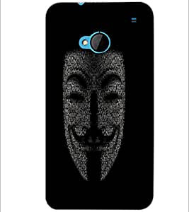 PrintDhaba Typographic Vendetta D-3755 Back Case Cover for HTC ONE M7 (Multi-Coloured)