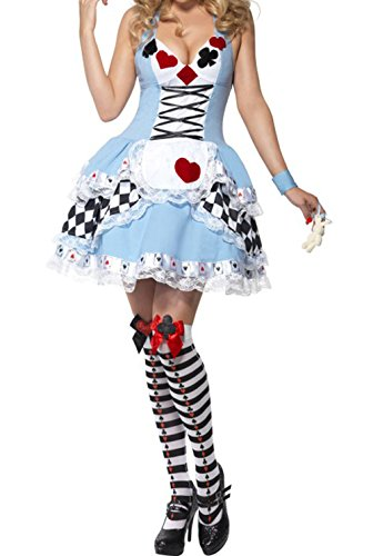 Halloween Oktoberfest Alice Poker Maidservant Cosplay Party Costume Dress
